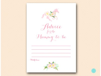 TLC497-advice-for-mummy-unicorn-carousel-horse-baby-shower