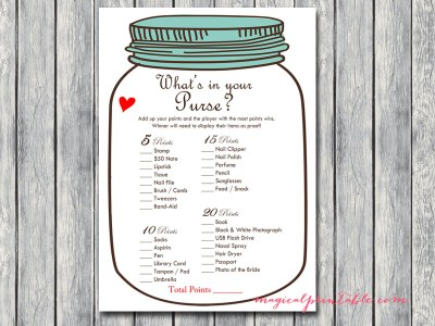 whats-in-your-purse-mason-jars-bridal-shower-hens-game