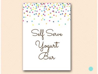 TLC108-sign-selfserve-yogurt-bar-baby-sprinkled-with-love-baby-shower