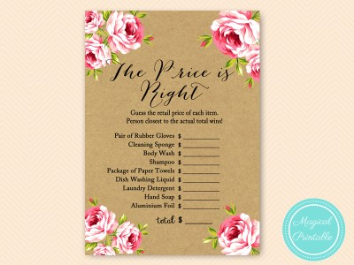 BS14-price-is-right-floral-kraft-paper-bridal-shower-game