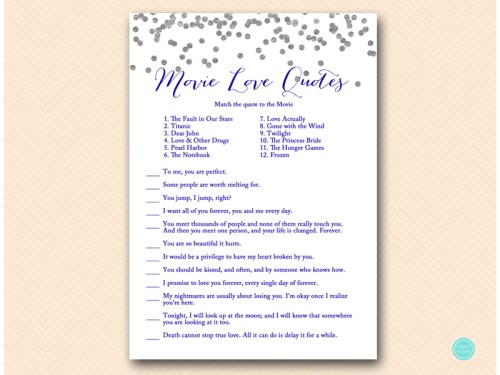 BS149B-movie-love-quote-match-navy-silver-bridal-shower-game