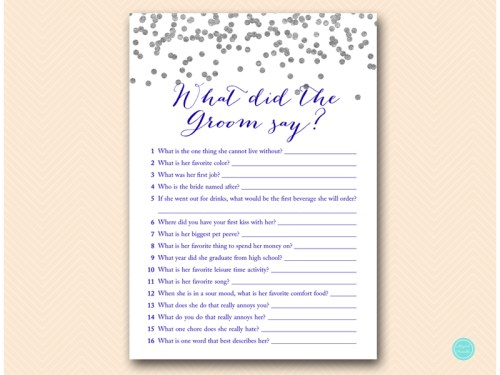 BS149B-what-did-groom-say-navy-silver-bridal-shower-game