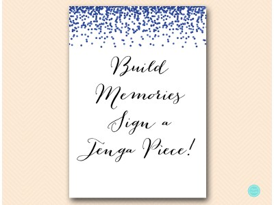 BS408-sign-build-memories-sign-jenga-pieces-navy-bridal-shower