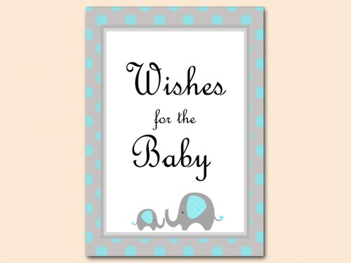tlc32b wishes for baby sign blue little peanut baby shower
