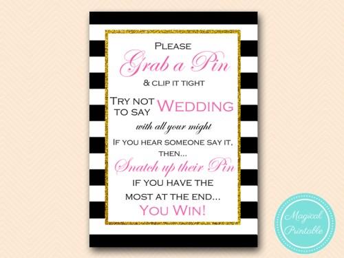 bs157 dont say wedding pin 5x7 kate spade - Kate Spade Wedding Invitations