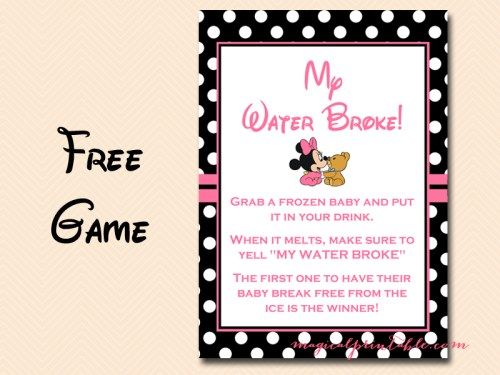 Minnie mouse baby shower games magical printable minnie mouse baby shower games filmwisefo