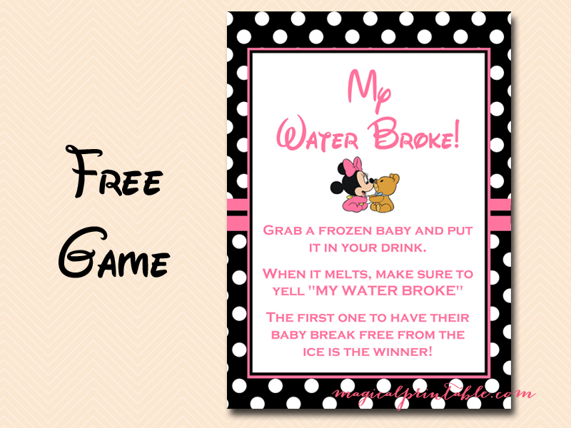 Awesome ... Tlc45 Free Minnie Mouse Baby Shower Games My Water