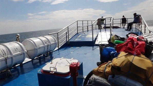 Top deck of the ferry from Penang to Langkawi