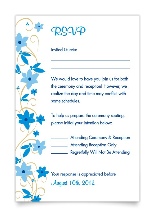 Medium Of Wedding Rsvp Card Wording