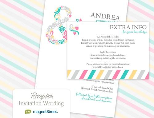 Medium Of Wedding Reception Invitations