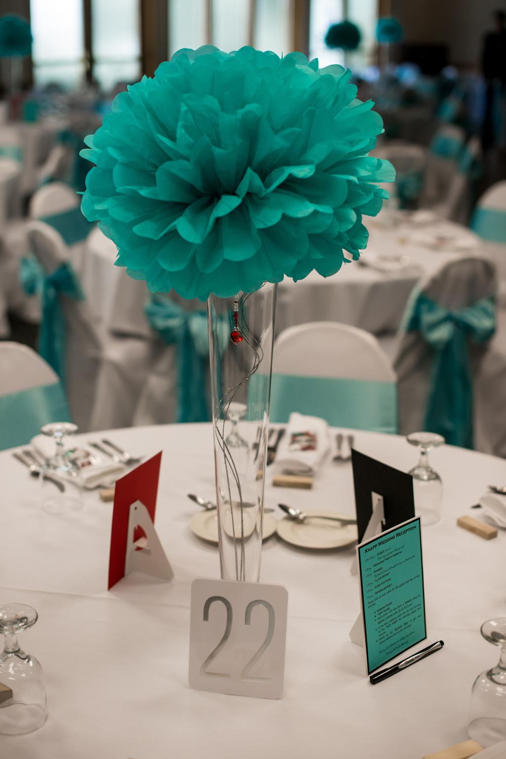tiffany blue and red wedding tiffany blue wedding tall tiffany blue paper pom centerpiece