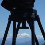 My Vinten tripod with the Mont Blanc in the background.