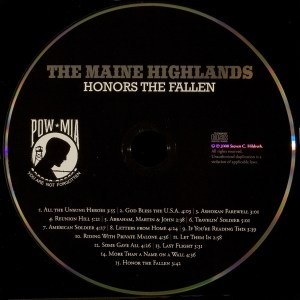 CD-0322, The Maine Highlands, Honors The Fallen