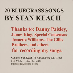 CD-0327, Stan Keach, 20 Bluegrass Songs