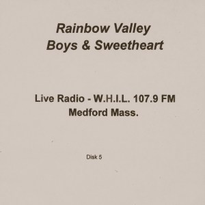 CD-0342, Rainbow Valley Boys _ Sweetheart, Live Radio, Disk 5