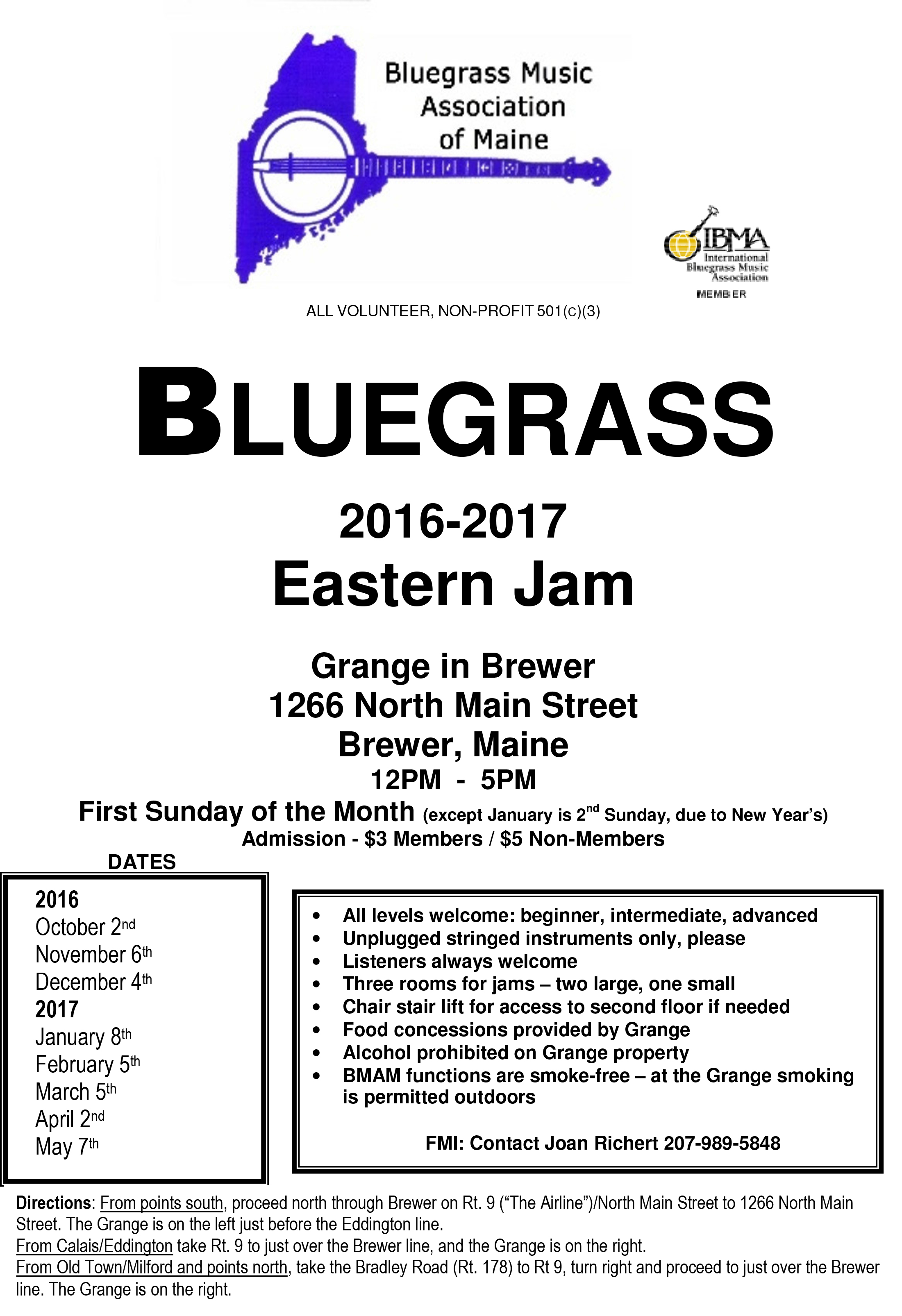 Upcoming Event Flyers | Bluegrass Music Association of Maine