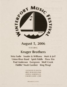 POST-0037, Winterport Music Festival Featuring Kruger Brothers, 2006