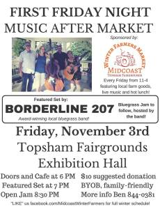11/4 Borderline 207 @ First Friday, Topsham