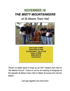 11/18 The Misty Mountaineers @ St Albans Town Hall