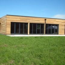 maison bois toiture plate perne en artois