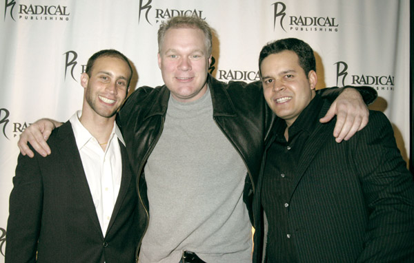 Radical Publishing's Jesse Berger, Tim Sullivan and Teddy Cabugos attend the Grand Opening of Radical Publishing held at the Radical Publishing offices on February 19, 2009 in Los Angeles, California.