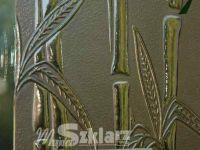 brązowa szyba ornamentowa