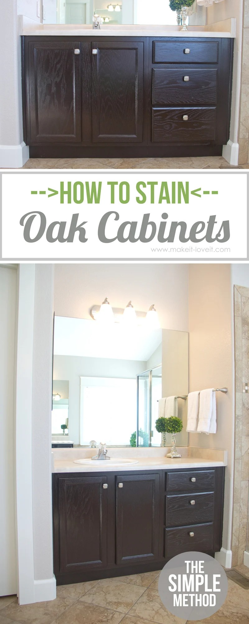 how to stain oak cabinets the simple method without sanding kitchen cabinet stain How to Stain OAK Cabinets the simple method no sanding necessary
