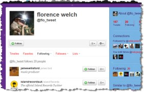 Florence Welch Twitter