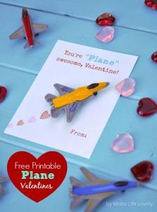 Free Printable DIY Toy Plane Valentines