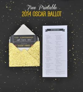 2014 Printable Oscar Ballot