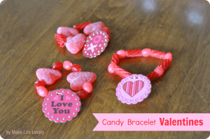 DIY Candy Bracelet Valentines