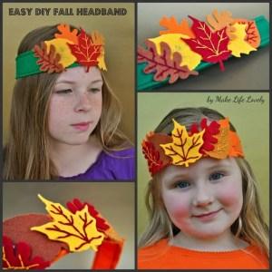 Easy DIY Fall Headband