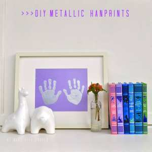DIY Metallic Handprints