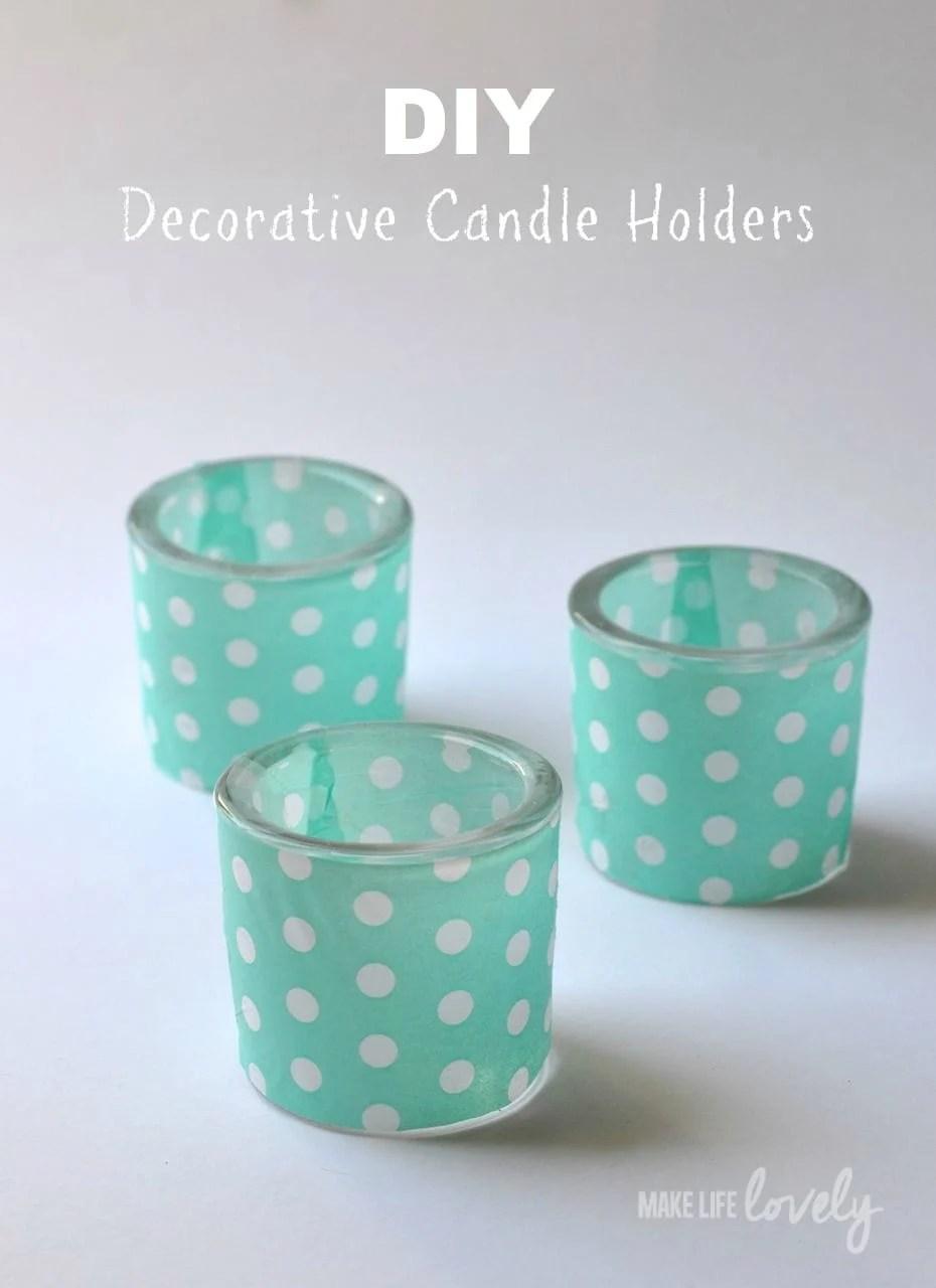 diy decorative tea light holders by make life lovely