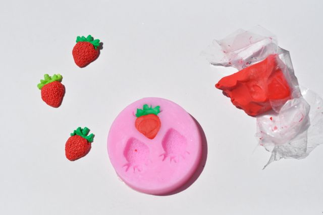 DIY Clay Strawberry Jewelry