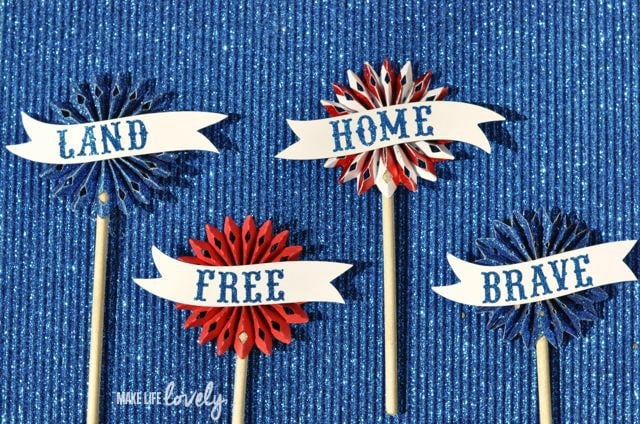 DIY Cupcake Toppers for Fourth of July | by Make Life Lovely