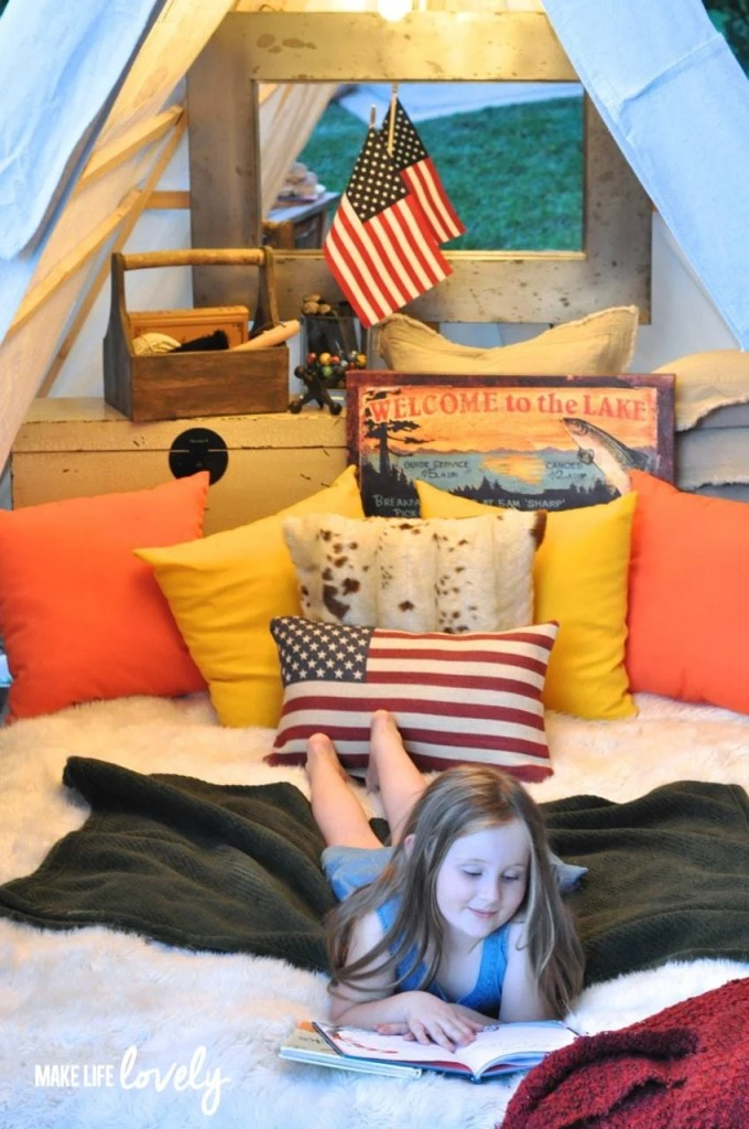 Glamping DIY A-Frame Tent  | by Make Life Lovely