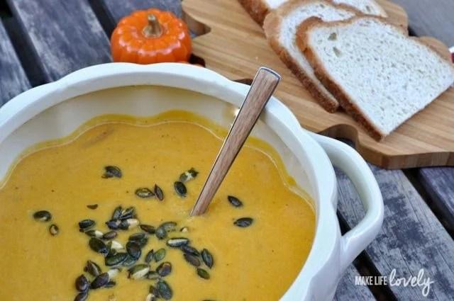 Butternut Squash Soup with Pumpkin Recipe