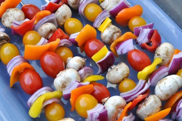 Vegetable shish kabobs