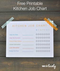 Free Printable Job Chart for Kids