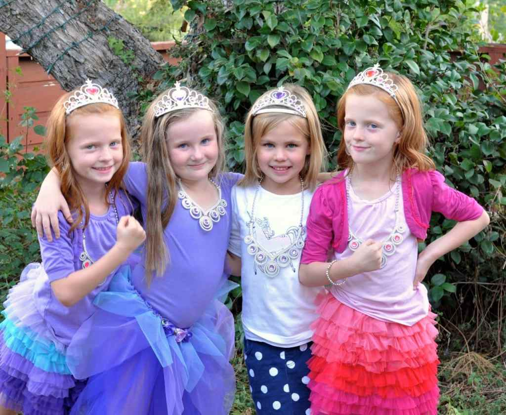The princesses at the Sofia the First Princess Party