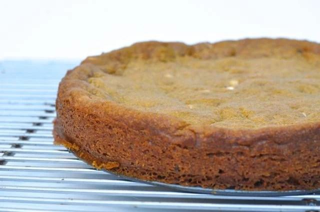 Pumpkin Spice Chocolate Chip Cookie Ice Cream Cake