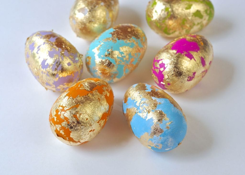DIY Gold Leaf Easter Eggs