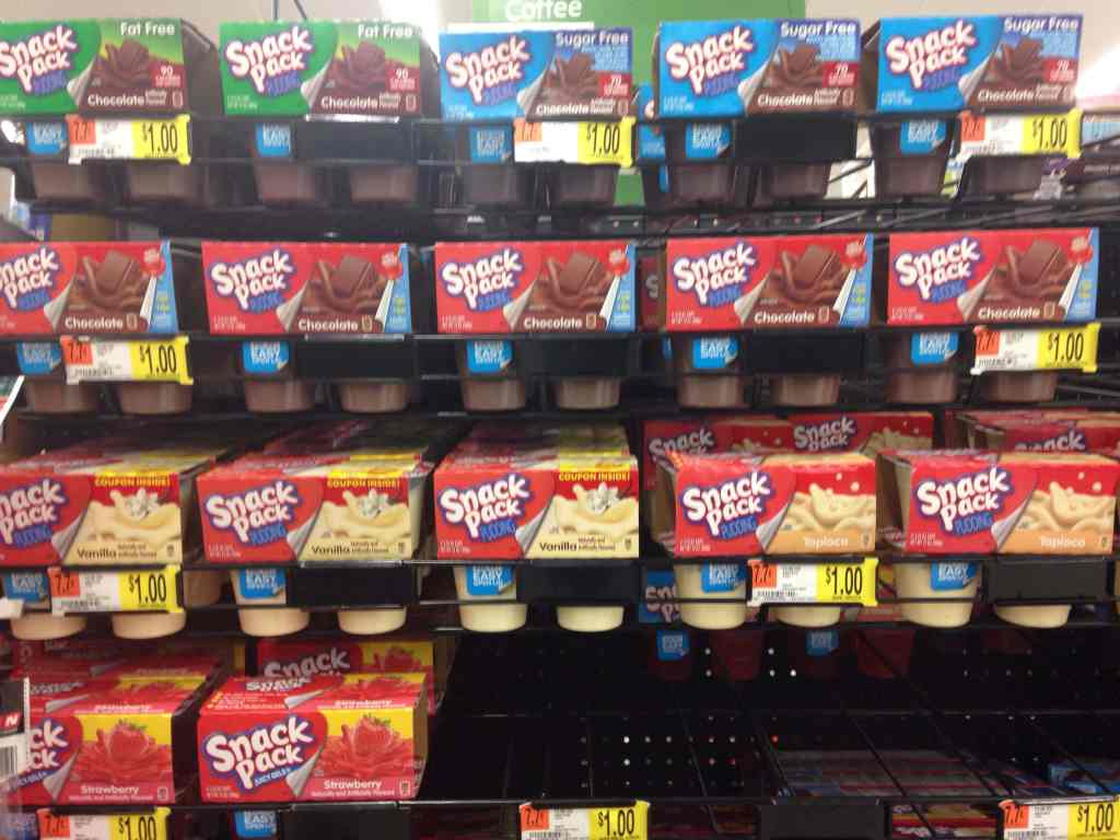 Snack Pack at Walmart