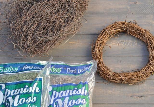 DIY bird nest supplies