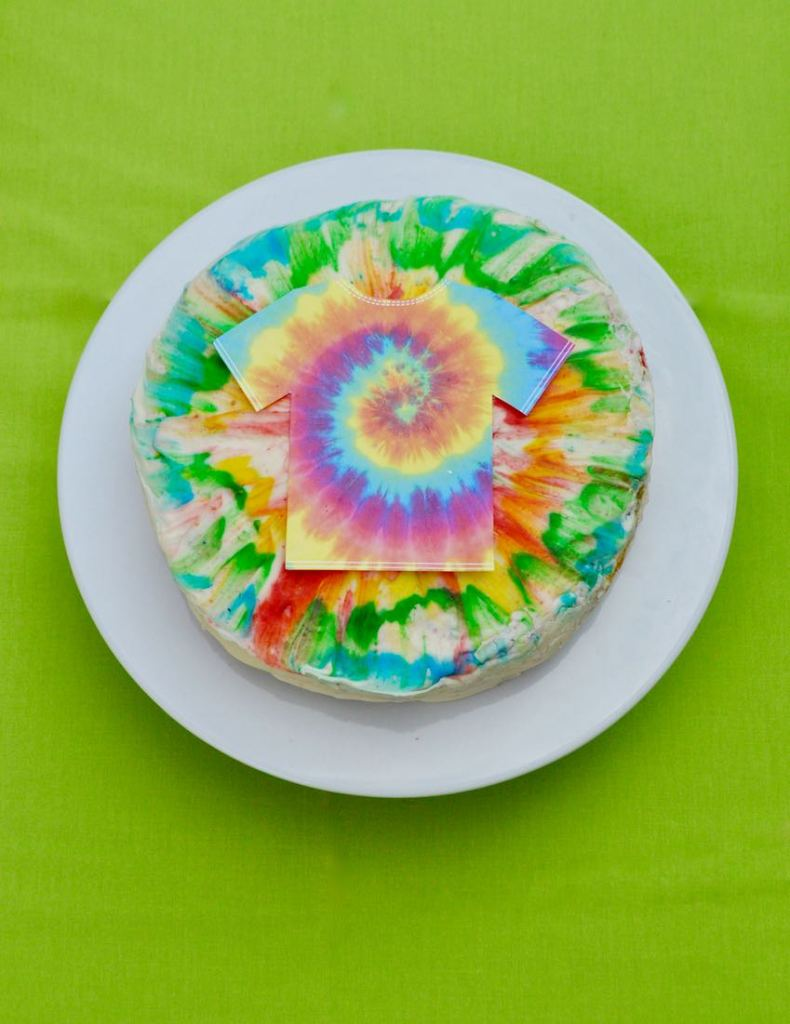 Tie Dye Cake for a Tie Dye Party