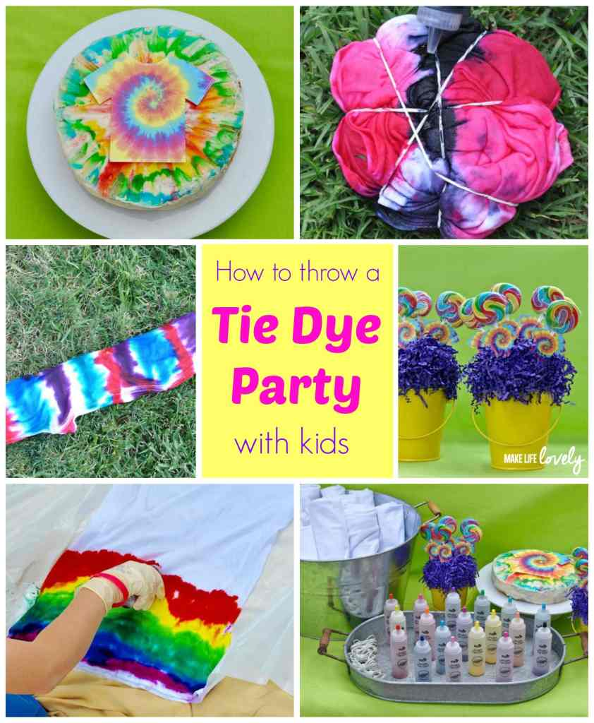 Tie Dye Party Ideas