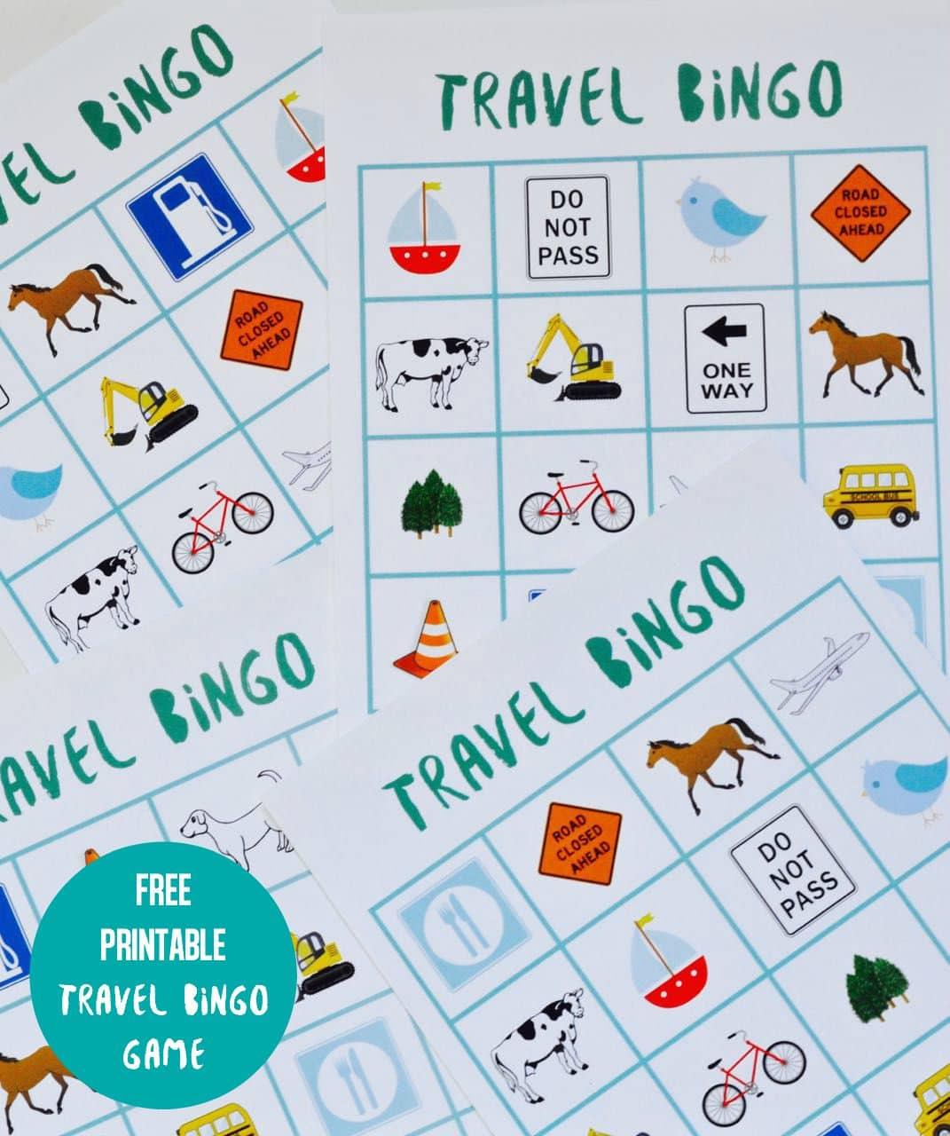 Free Printable Travel Bingo Game by MLL