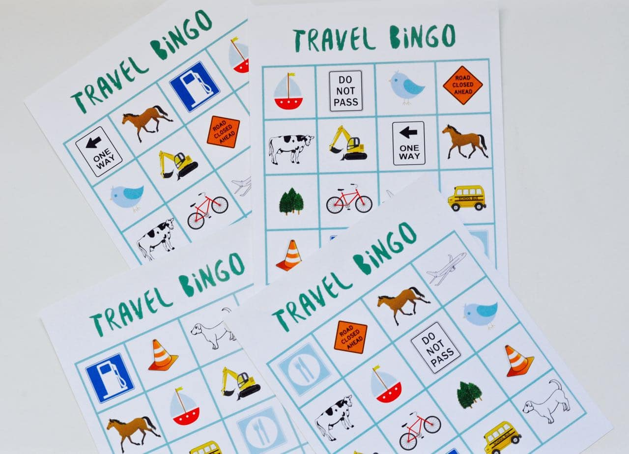 This is a picture of Unusual Travel Bingo Game