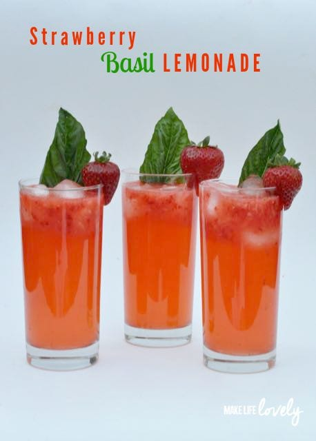 Strawberry Basil Lemonade Recipe - Make Life Lovely